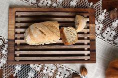 Bread cutting board bread crumb catcher bread by JaraKacaHandmade Bread Board, Serving Board, Wooden Crafts, Bread Crumbs, Catcher, Cutting Board, Autumn, Rustic, Etsy