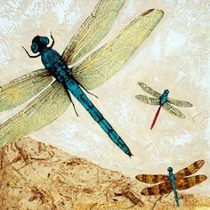 dragonfly paintings | Zen Flight - Dragonfly Art By Sharon Cummings Painting