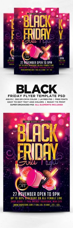 Happy Halloween Party Flyer Template PSD Flyer template - black flyer template