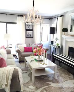 neutral base with pops of color.