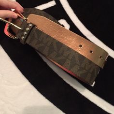"authentic Micheal Kors belt 3 holes. Never wore cause it was too big for me. About 40"" long with the holes at 32.5"", 33.5"", and 34.5"". Extra holes could be put in if you have the tool. Michael Kors Accessories Belts"