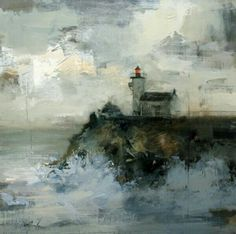 Seascape Paintings, Landscape Paintings, Abstract Landscape, Abstract Art, Encaustic Art, Pastel Art, Beautiful Paintings, Ciel, Painting Inspiration