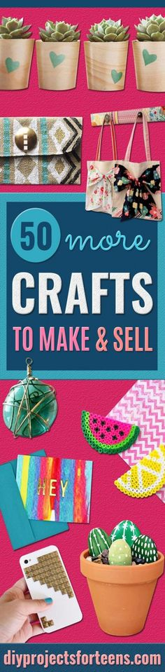Crafts for Teens to Make and Sell - Cheap and Easy DIY Ideas To Make For Extra Money - Best Things to Sell On Etsy, Dollar Store Craft Ideas, Quick Projects for Teenagers To Make Spending Cash - DIY G Diy Crafts For Teen Girls, Crafts For Teens To Make, Diy And Crafts Sewing, Diy Crafts To Sell, Selling Crafts, Easy Crafts, Teen Diy, Diy Craft Projects, Diy Crafts Videos
