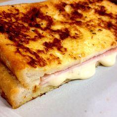 ハムとチーズの甘くないフレンチトースト  |  あさこ食堂