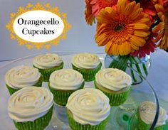 Orangecello Cupcakes by Booze, Sugar & Spice via rantingchef.com