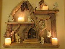 Magical Fairy Door Rustic, Shabby Chic, Nautical, Genuine Driftwood Shelves