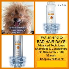 Is this how you feel some mornings, well, no more. Check out our Advanced Techniques Shampoos and Conditioners, and they are on sale! www.youravon.com/lindabacho #avonrep