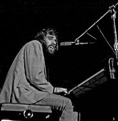 Richard Manuel playing with The Band, Hamburg, May 1971.