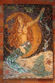 mosaics of mermaids | Mermaid Mosaics on Pinterest | Mosaics, Mosaic Art and Stained Glass