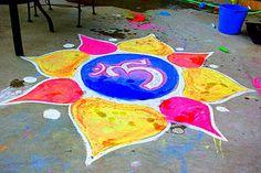 Diwali decor...chalk rangoli