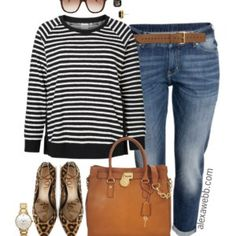 Like everything except would want different top or sweater - this one wouldn't look good on me with horizontal stripes.