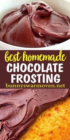 Homemade Chocolate Frosting is luscious It has a rich chocolate flavor, and a soft texture. This may be the easiest chocolate frosting to make from scratch. Dessert Simple, Chocolate Flavors, Chocolate Recipes, Easy Chocolate Desserts, Food Cakes, Cupcake Cakes, Köstliche Desserts, Dessert Recipes, Alcoholic Desserts
