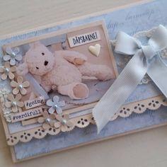 """125 likerklikk, 10 kommentarer – Mette Rønning Buskum (@mettebuskum) på Instagram: """"Dåpskort til en liten gutt som jeg har laget på bestilling #papirdesign #kort #dåpskort #scrapping…"""""""
