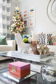 Christmas Home Tour 2014 - Cuckoo4Design // Such a gorgeous use of jewle tones