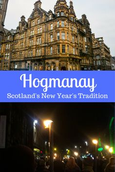 Hogmanay is Scotland's New Year's tradition that consists of days of parties and music. Edinburgh has the famous fire-filled Torchlight Procession on December 30th.