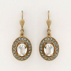 767ea0c2c Vintage Crystal Oval Earrings By Catherine Popesco La vie Parisienne.  $50.00. 14kt antique gold