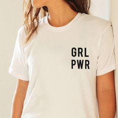 Girl Power Grl Pwr drôle Tumblr Hipster Vegan Womans équipé nouvelle féministe T Shirt Top S - XL par ToffeeTees sur Etsy https://www.etsy.com/fr/listing/522017281/girl-power-grl-pwr-drole-tumblr-hipster