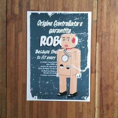 Roboto Art Poster, Interior Design Idea, Robot Art, Robot Nursery, Art Design for the Decor of Wall Art by HeyCi on Etsy