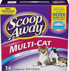 Scoop Away Multi-Cat, Scented Cat Litter, 14 Pounds * Be sure to check out this awesome product. (This is an affiliate link and I receive a commission for the sales) #Cats