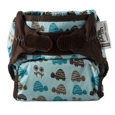 Pop In 3120001105 - Pañal de tela con interior de bambú, color azul con tortugas
