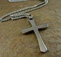 Choose chain S-134 Silver Cross Pendant Sterling silver Cross Cross Pendant Necklace Beautiful Wood design Cross Necklace