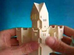 Sliceform - papercraft - pop-up - castle (Clark Britton) - dutchpapergirl