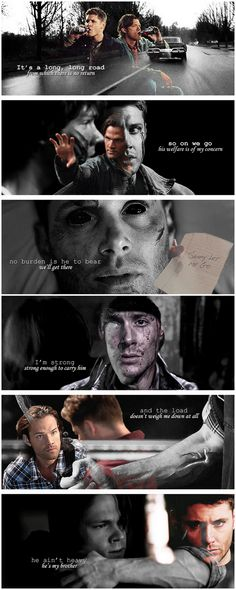 [gifset] Hollies - He Ain't Heavy, He's My Brother #SPN #Dean #Sam