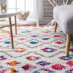 Shop The Curated Nomad Ashbury Vibrant Moroccan Diamond Shag Area Rug - On Sale - Overstock - 20689905 - Pink - x Tadelakt, Interior Rugs, Interior Shop, Interior Design, Moroccan Decor, Textiles, Online Home Decor Stores, Online Shopping, Rugs In Living Room