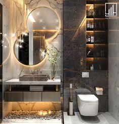 Modern Ground floor Design in kSA Modern Luxury Bathroom, Bathroom Design Luxury, Modern Bathroom Design, Home Interior Design, Luxury Master Bathrooms, Small Bathrooms, Wc Design, Toilet Design, Floor Design