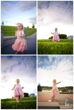 child photography with clouds that pop