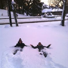 Snow angels.