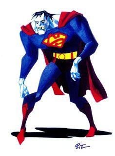 Bizarro Superman by Bruce Timm.  #superman, #bizarro