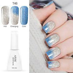 Azure 12 ml new ändern gel nagellack langlebige tränken-weg led uv gel lack chamäleon gel maniküre lack gelpoliermittel