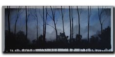 Shoply.com -Exposing Forest in Blue Contemporary Modern Abstract 20 x 48 x 1.5 by DROB. Only $299.99