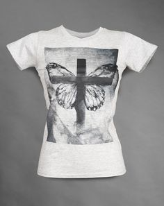 Chrysalis Rising - Grey womens semi-fitted t-shirt - Soft handle print - 100% super-soft ringspun cotton £24.95 http://www.deadmouseofficial.com/spring-summer-2013/womens/chrysalis-rising.html