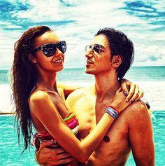 Russian photographer Murad Osmann and his girlfriend Nataly Zakharova.