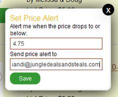 Set Amazon price alerts