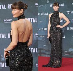 ScarletStiletto: Jessica Biel in Elie Saab - 'Total Recall' Berlin Premiere