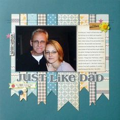 One Photo Scrapbook Page idea