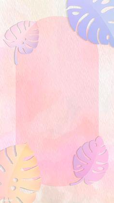 Frame on pastel botanical patterned mobile phone wallpaper vector Framed Wallpaper, Pastel Wallpaper, Mobile Wallpaper, Wallpaper Backgrounds, Iphone Wallpaper, Pastel Color Background, Theme Background, Flower Background Wallpaper, Background Patterns