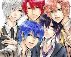 Kiaito, Akaito, Koito, Kaito & Taito (by Zerochan)