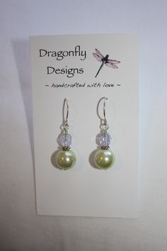 like the sizes of the beads and shorter length overall.  Green and Periwinkle Delicate Sterling Earrings $12.50