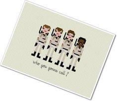 Pixel People  Ghostbusters  PDF Cross Stitch door weelittlestitches, $5.00