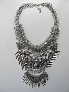 Peacock necklace.