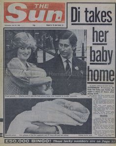 Diana leaves St. Mary's Hospital with Prince William on June 22, 1982.