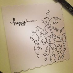 Christmas On Pinterest Trees Hand Drawn And Cards