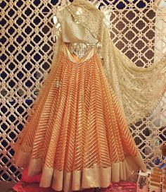 Beautiful Lehenga Choli, from 'The Best Wedding Stores Of Shahpur Jat With Prices.' by Namrata Nautiyal July, 2017 via Indian Bridal Fashion, Indian Wedding Outfits, Bridal Outfits, Indian Outfits, Indian Clothes, Bridal Dresses, Kurti Designs Party Wear, Lehenga Designs, Dress Indian Style