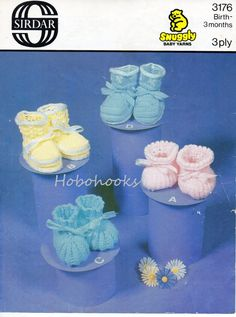 Baby knitting pattern baby bootees baby booties knitted bootees pattern boys girls 3 ply bootees newborn-3 months pdf instant download