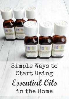 A simple, quick start guide to using essential oils throughout your home, for aromatherapy and other purposes. (Via The Pretty Bee).