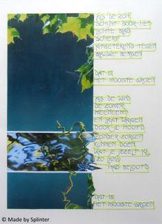 'Groen' ansichtkaart gemaakt door Saskia Splinter #postcard #art #calligraphy #ansichtkaart #green #leaf